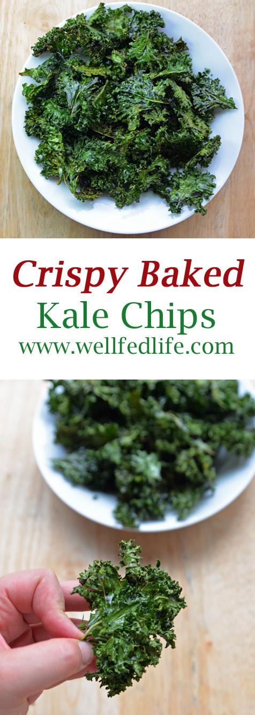 Baked Kale Chips Pinterest