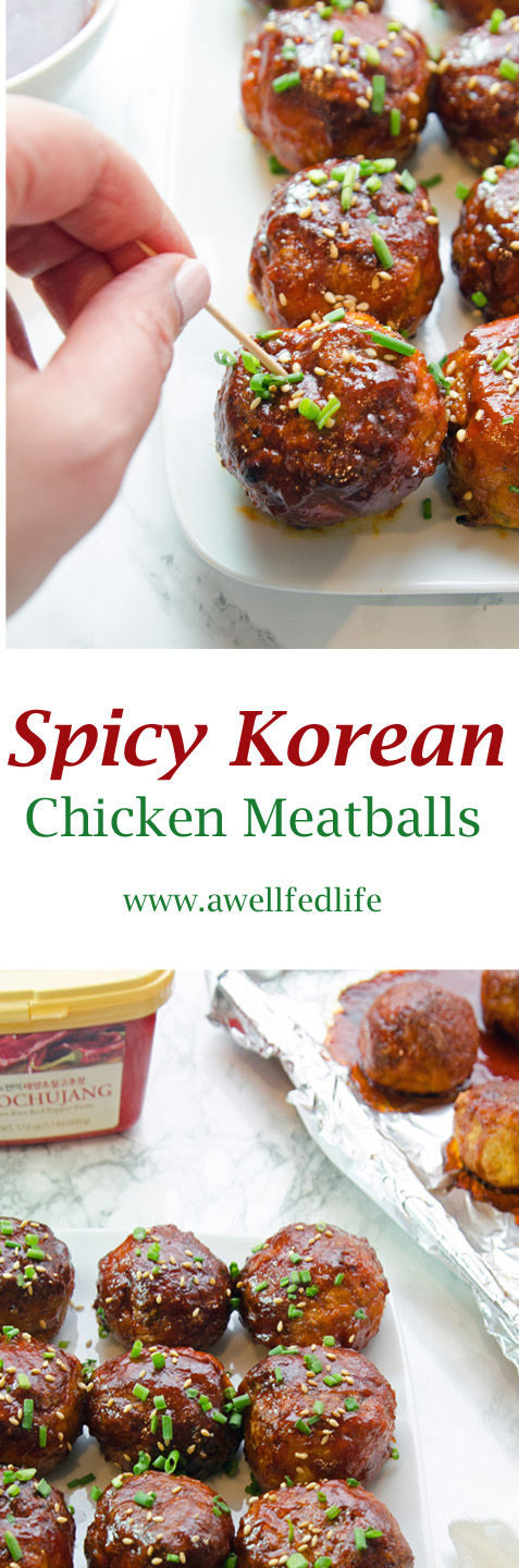 Spicy Korean Chicken Meatballs