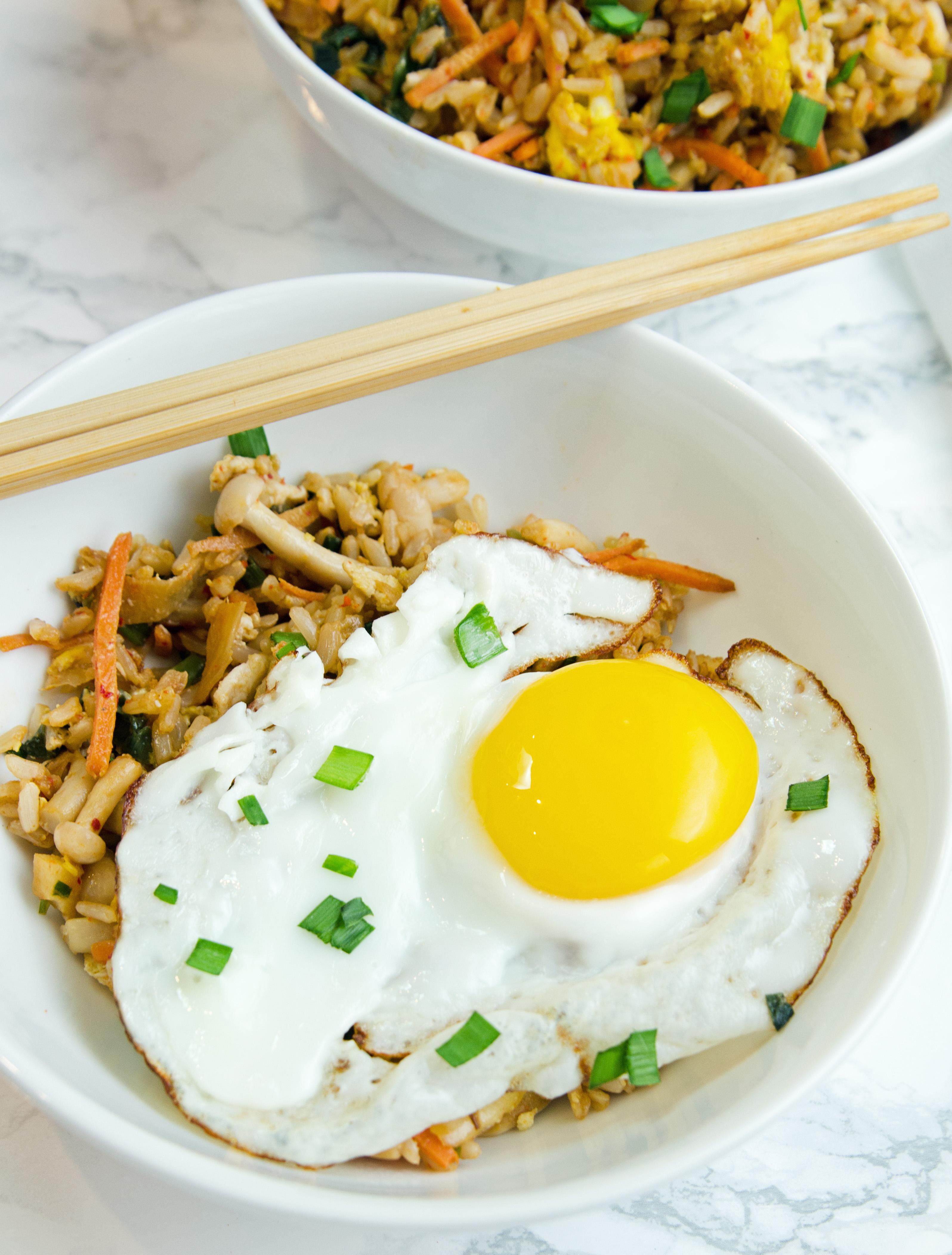 Kimchi Fried Rice and Egg