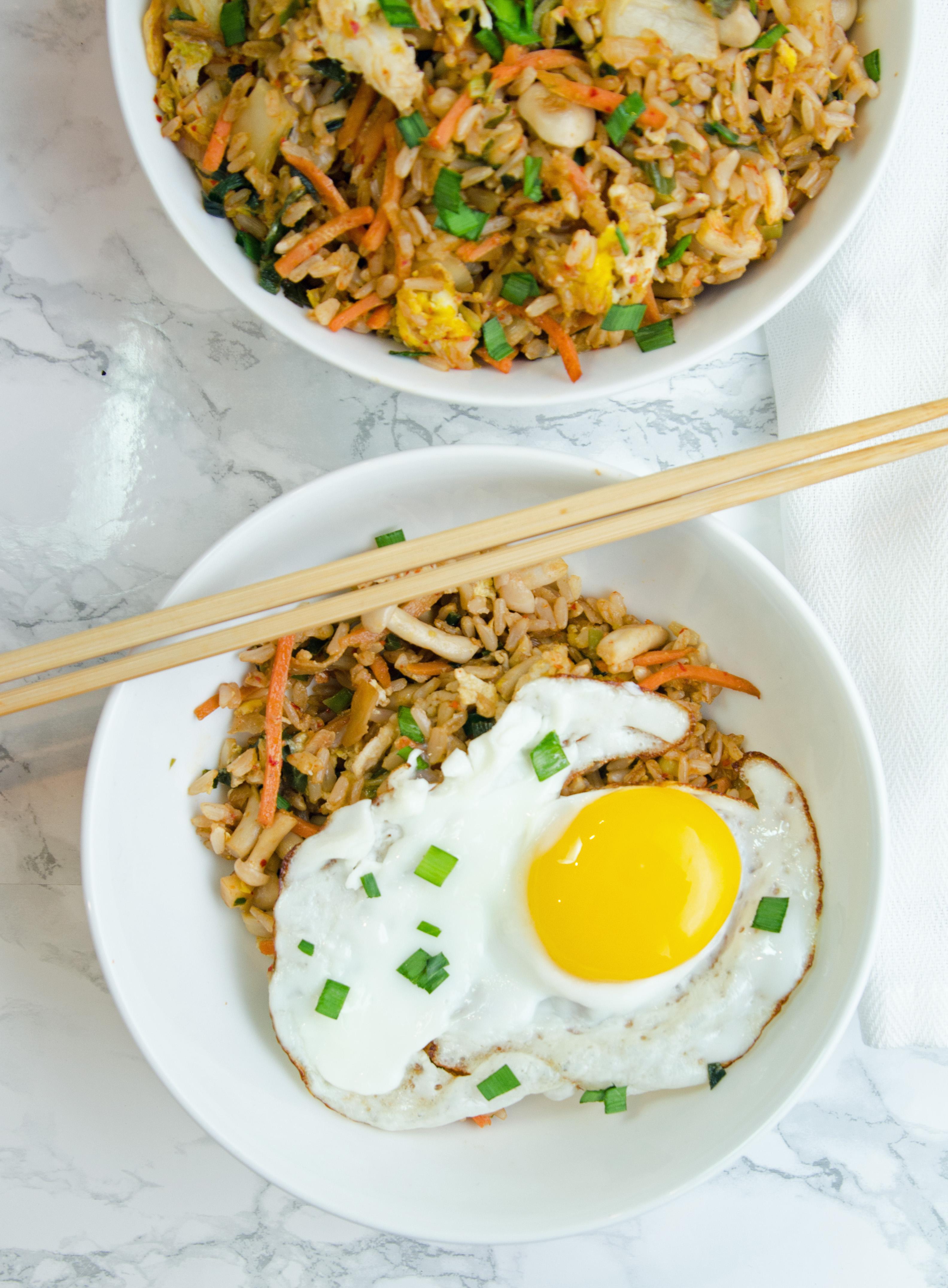 Kimchi Fried Rice with Egg