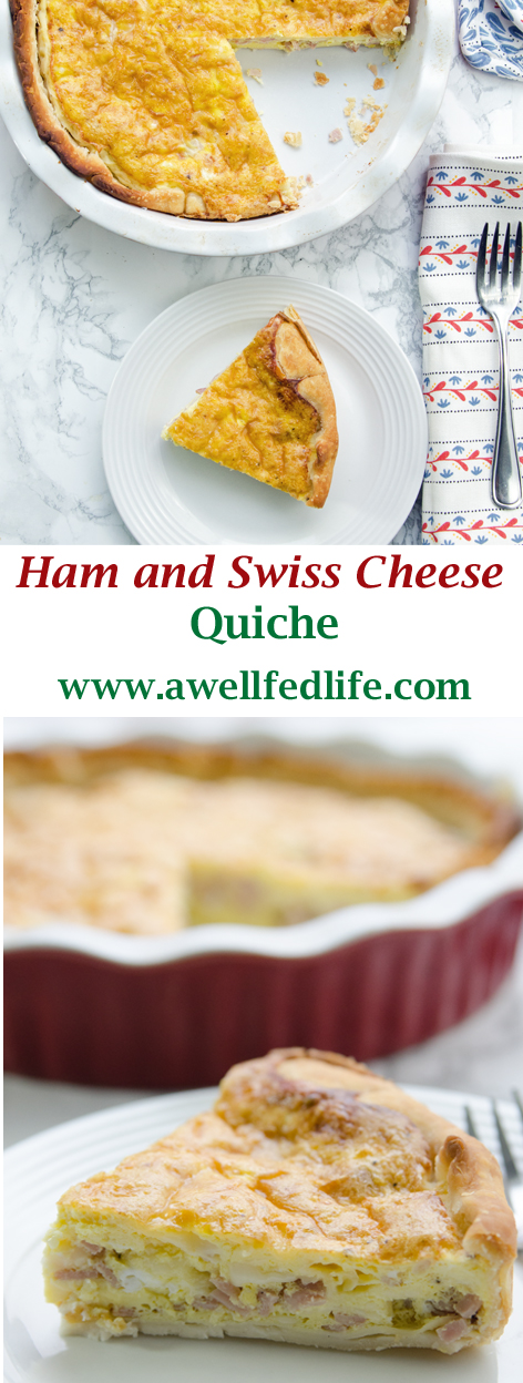 Pin Quiche Ham and Swiss Quiche