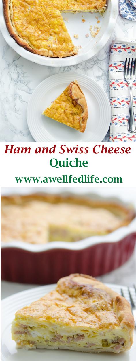 Pin Quiche Ham and Swiss Quiche